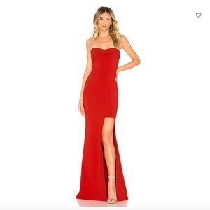 Likely Ella Strapless Gown w/ High Slit